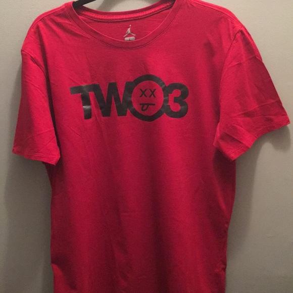 71c1e1b57b8 Jordan Shirts   Two 3 Red Short Sleeve Tshirt Flu Game   Poshmark
